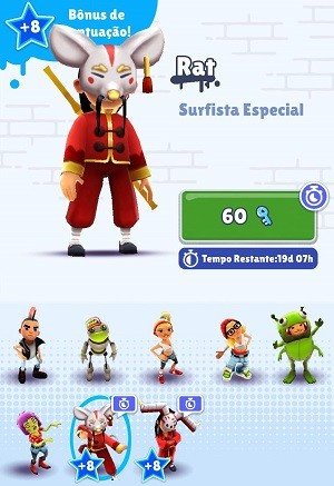 personagem limitados subway surf