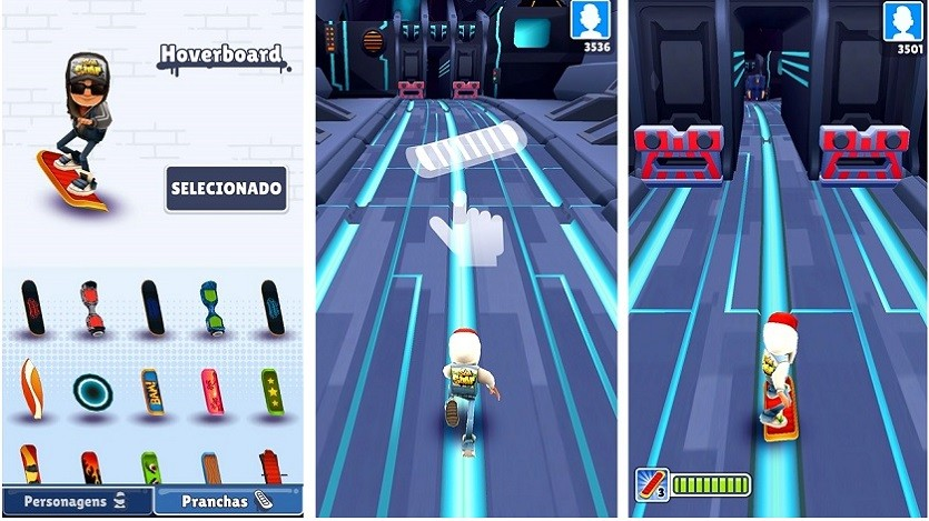 Pranchas de Subway Surfer